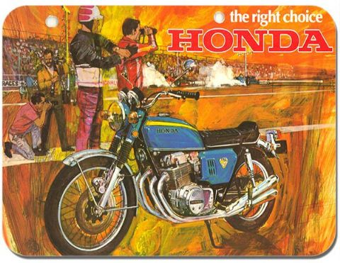 Vintage CB750 Ad Mouse Mat Motorcycle Motorbike Biker Mouse pad